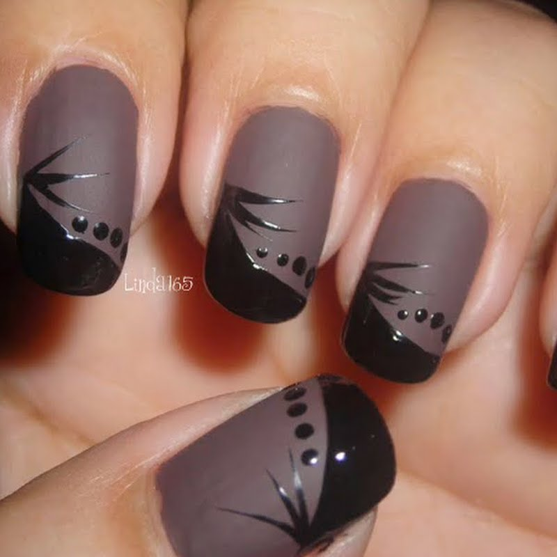 trendy-style-matte-nail-art-designs-ideas