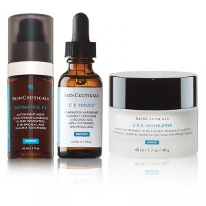 Skinceuticals anti aging products review: C E Ferulic, Phloretin CF, Vitamin C serum